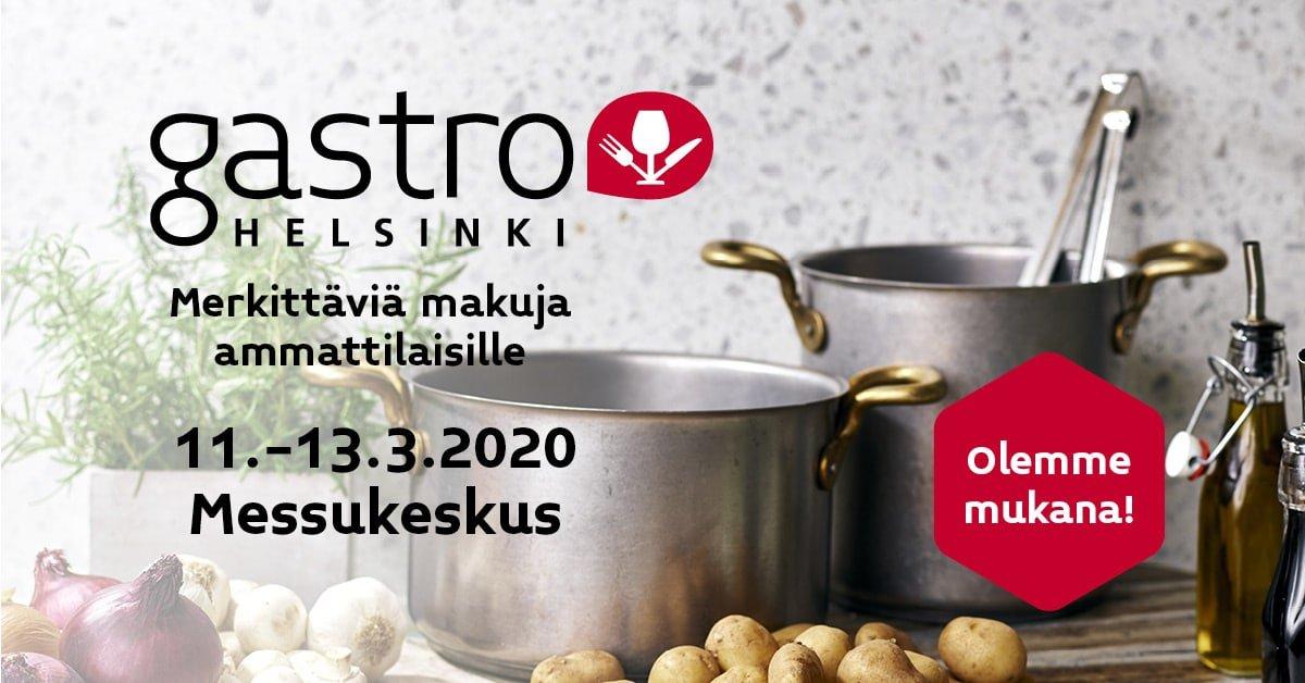Olemme mukana Gastro 2020 messuilla Lounastaja