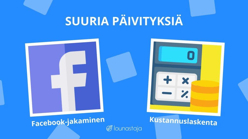 Facebook ja kustannuslaskenta julkaistu!